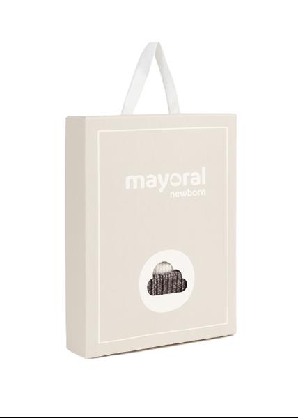 Mayoral Bebe Σετ Σκούφος - Γάντια Αρκούδος, Μπεζ