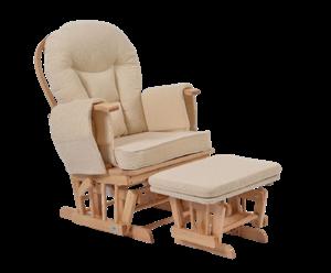 KidsCom Πολυθρόνα Θηλασμού Wooden Glider Nature-Beige