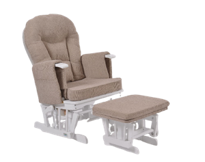 KidsCom Πολυθρόνα Θηλασμού Wooden Glider White-Brown