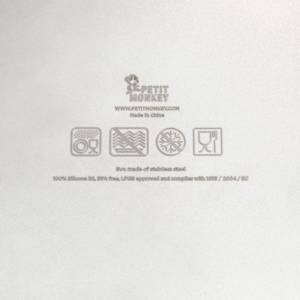 Petit Monkey - Φαγητοδοχείο Stainless Steel Mae, Pine