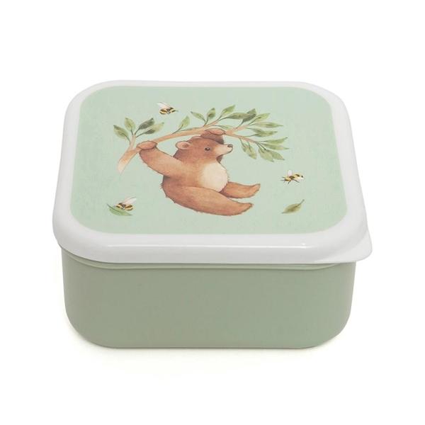 Petit Monkey - Σετ με 3 Φαγητοδοχεία Bear and Friends