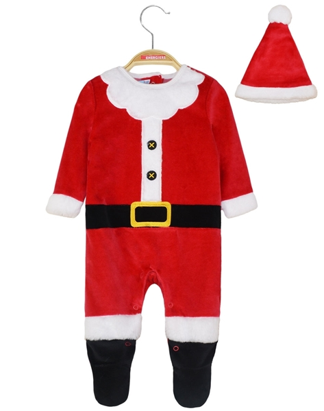Energino Χριστουγεννιάτικο Φορμάκι Και Καπέλο, Κόκκινο