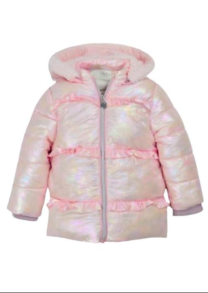 Εβίτα Fashion Παιδικό Μπουφάν Ιριδίζον, Ροζ