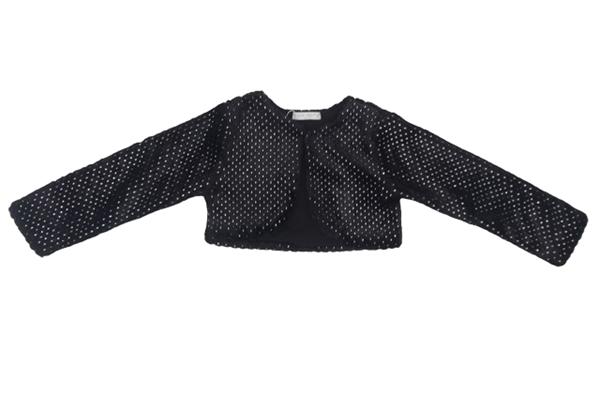 Εβίτα Fashion Γούνινο Μπολερό, Μαύρο