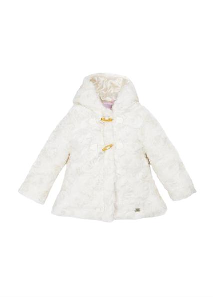 Εβίτα Fashion Παιδικό Γούνινο Παλτό, Εκρού