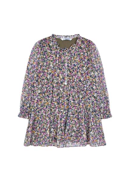 Mayoral Παιδικό Φόρεμα Φλοράλ Για Κορίτσι, Λιλά