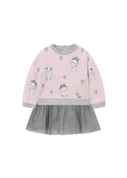Mayoral Bebe Φόρεμα Για Νεογέννητο Κορίτσι Τούλι, Ροζ