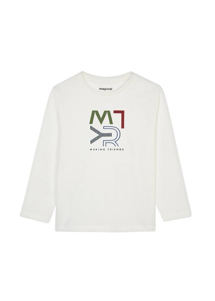 Mayoral Παιδική Μπλούζα Βασική ECOFRIENDS Για Αγόρι, Κρεμ