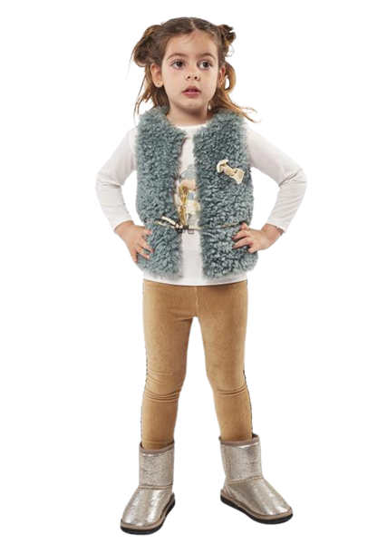 Εβίτα Fashion Παιδικό Σετ 3 Τμχ Γιλέκο, Μπλούζα Και Κολάν, Πράσινο