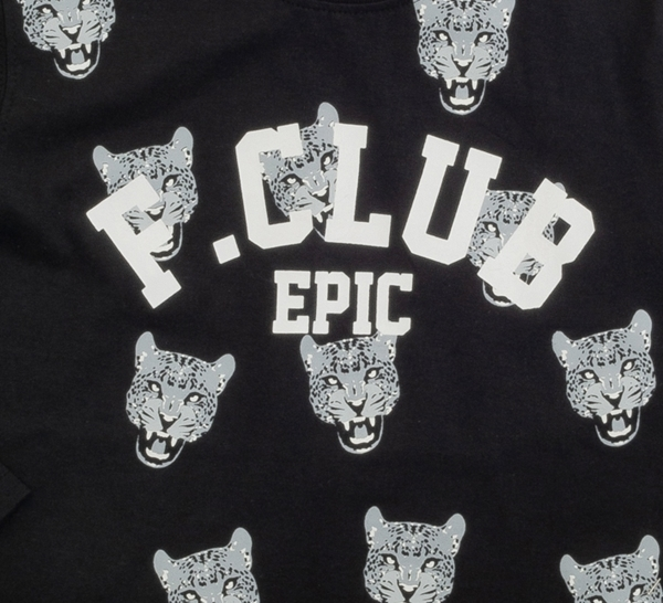 Funky Μακρυμάνικη Μπλούζα Για Αγόρι Club, Μαύρο