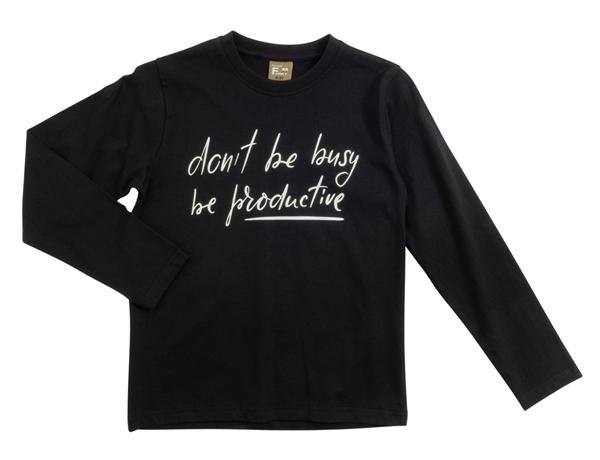 Funky Μακρυμάνικη Μπλούζα Για Αγόρι Busy, Μαύρο