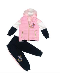 Restart Παιδικό Σετ 3 Τμχ Φόρμας Για Κορίτσια Tik Tok, Ροζ