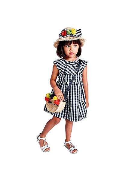 Mayoral Παιδικό Φόρεμα Καρώ Για Κορίτσι, Μαύρο