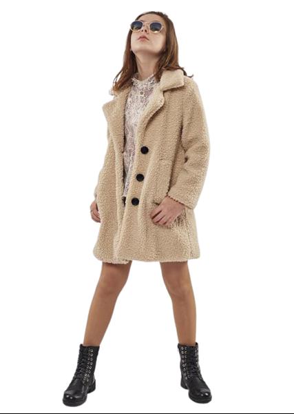 Εβίτα Fashion Παλτό Για Κορίτσια, Μπεζ