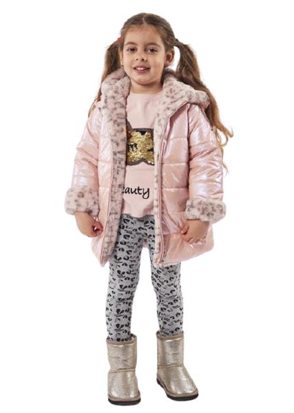 Εβίτα Fashion Παιδικό Μπουφάν Διπλής Όψεως, Ροζ