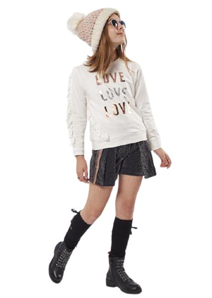 Εβίτα Fashion Σετ Σορτς Lame Και Μπλούζα Love, Μαύρο
