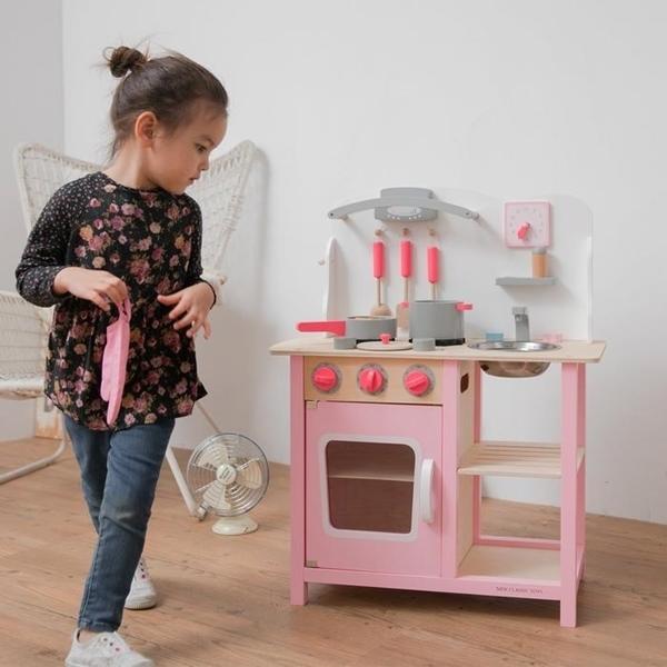New Classic Toys Ξύλινη Κουζίνα Bon Appetit Pink
