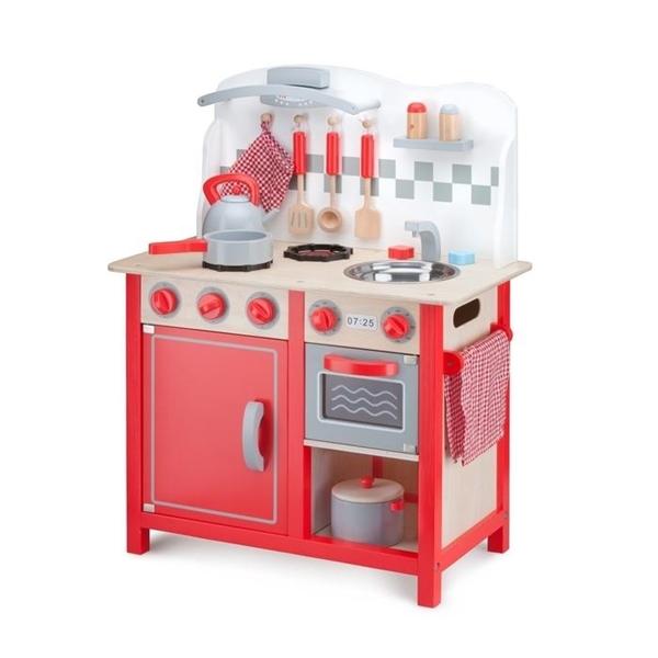 New Classic Toys Ξύλινη Κουζίνα Bon Appetit Deluxe Red