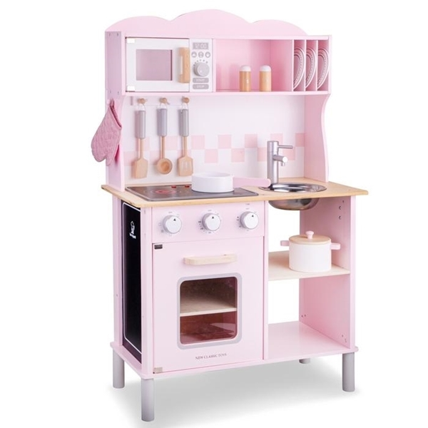 New Classic Toys Ξύλινη Κουζίνα Electric Cooking Pink