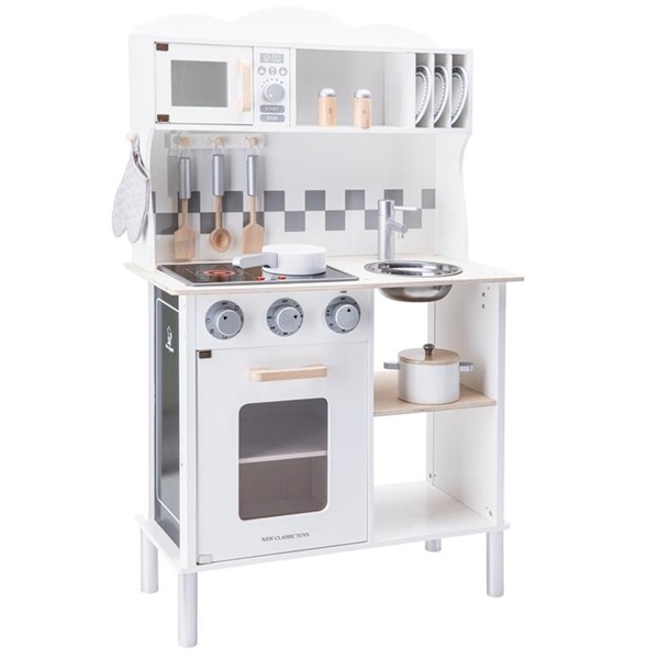 New Classic Toys Ξύλινη Κουζίνα Electric Cooking White