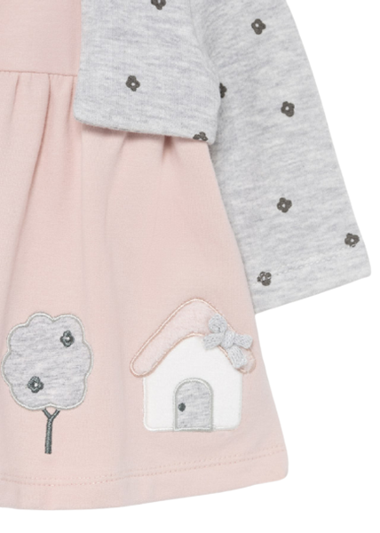 Mayoral Bebe Φόρεμα Για Νεογέννητο Κορίτσι Με Κορδέλα, Ροζ