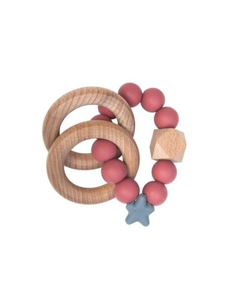 Nibbling Μασητικό Κρίκος Οδοντοφυίας Stellar Nat. Wood Ring Pomegrante