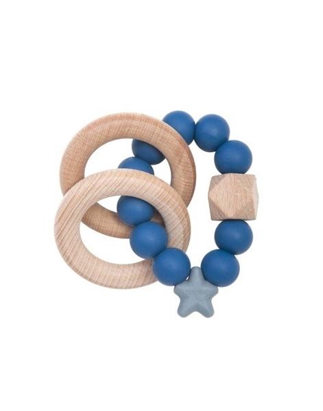 Nibbling Μασητικό Κρίκος Οδοντοφυίας Stellar Nat. Wood Ring Blueberry