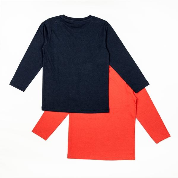 Zippy Σετ 2 Μπλούζες Μακρυμάνικες Για Αγόρι Play, Μπλέ Κόκκινο