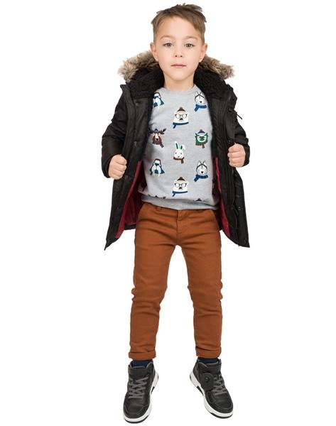 Energiers Παιδική Μπλούζα Για Αγόρια Ζωάκια, Γκρί