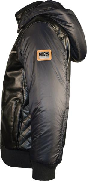 Energiers Παιδικό Casual Μπουφάν Κοντό με Κουκούλα για Αγόρι, Μαύρο