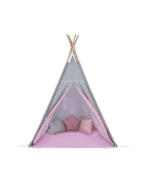 Baby Adventure Σκηνή Teepee Grey Pink Star