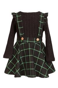 M&B Fashion Παιδική Φούστα Σαλοπέτα, Μαύρο