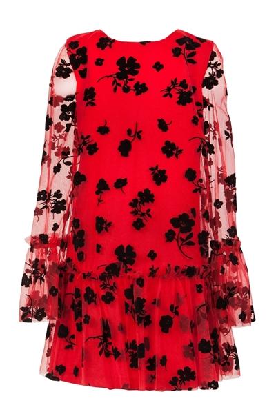M&B Fashion Φόρεμα Με Τούλι Για Κορίτσι, Κόκκινο