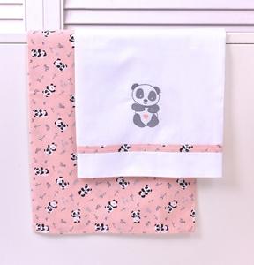 Baby Oliver Σετ Σεντόνια Λίκνου 2 τεμ. 80x110 εκ. Pink Panda