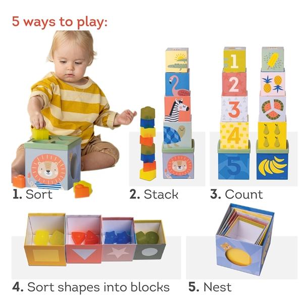 Taf Toys Εκπαιδευτικό Παιχνίδι Savannah Sort & Stack