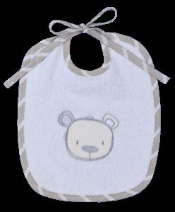 Baby Oliver Σαλιάρα Υφασμάτινη Sweet Teddy Grey