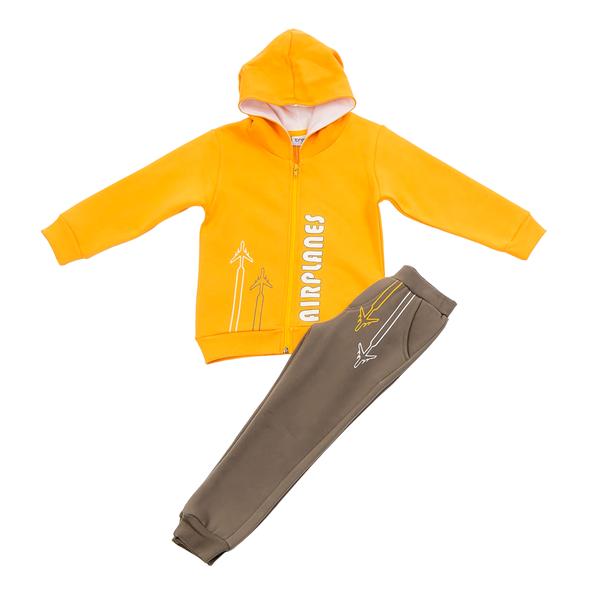 Trax Παιδικό Σετ Φόρμας Με Ζακέτα Για Αγόρι, Κίτρινο Λαδί