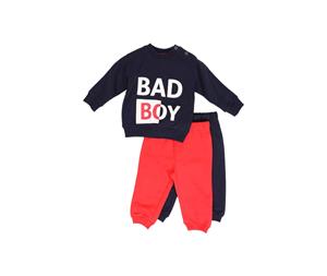 New College Bebe Σετ Με 2 Παντελόνια Φόρμας Για Αγόρι, Μπλέ Κόκκινο