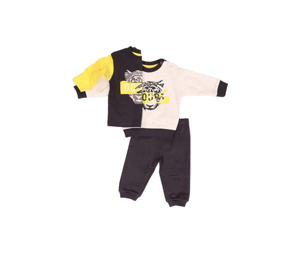 New College Bebe Σετ Με 2 Μπλούζες Για Αγόρι, Ανθρακί Κίτρινο