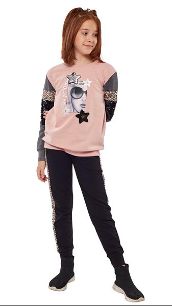 Εβίτα Fashion Σετ Παντελόνι Φόρμας Και Φούτερ Star Girl, Ροζ