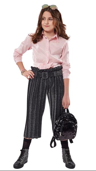 Εβίτα Fashion Σετ Παντελόνα Με Πιέτες Και Πουκαμίσα, Ροζ