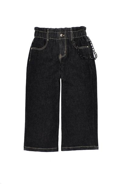 Εβίτα Fashion Παντελόνι Ζιπ Τζιν Ελαστικό Με Ζώνη, Μαύρο