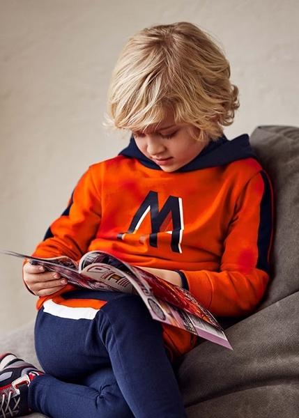 Mayoral Παιδικό Σετ Φόρμας Για Αγόρι, Πορτοκαλί