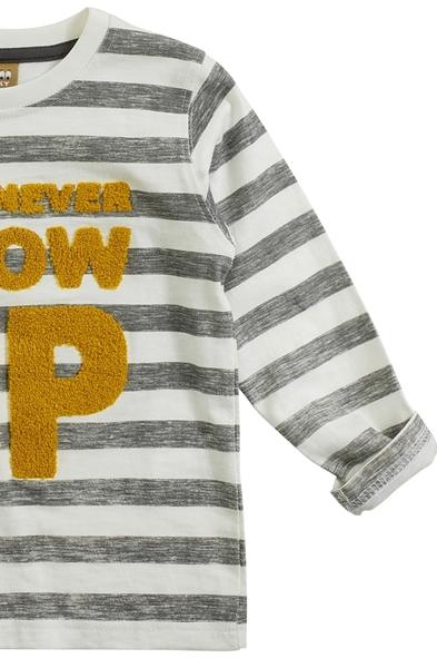Funky Παιδική Μακρυμάνικη Μπλούζα Για Αγόρι Grow Up, Ώχρα