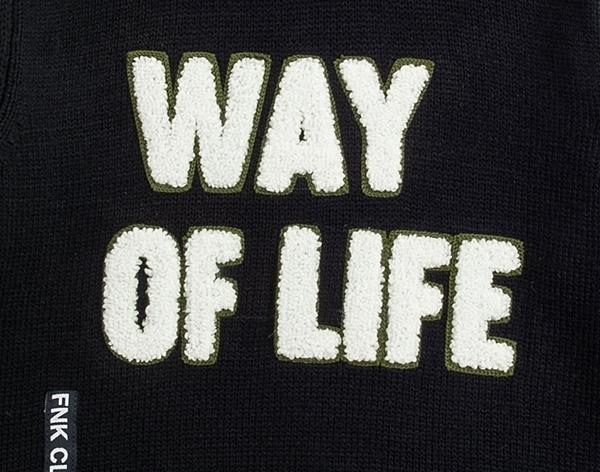 Funky Παιδική Πλεκτή Μπλούζα Για Αγόρι Way Of Life, Μπλέ